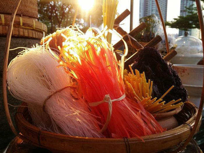 Thai Noodles Thai Food Raw Food Decoration Thai Food Decoration Original Thai Food Handmade Basket Thaistyle Bangkok Thailand By Lg G3 Color Of Life
