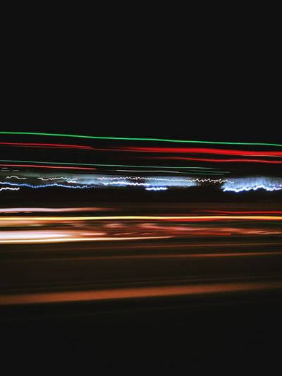 Blurred Motion Of Light Trails At Night