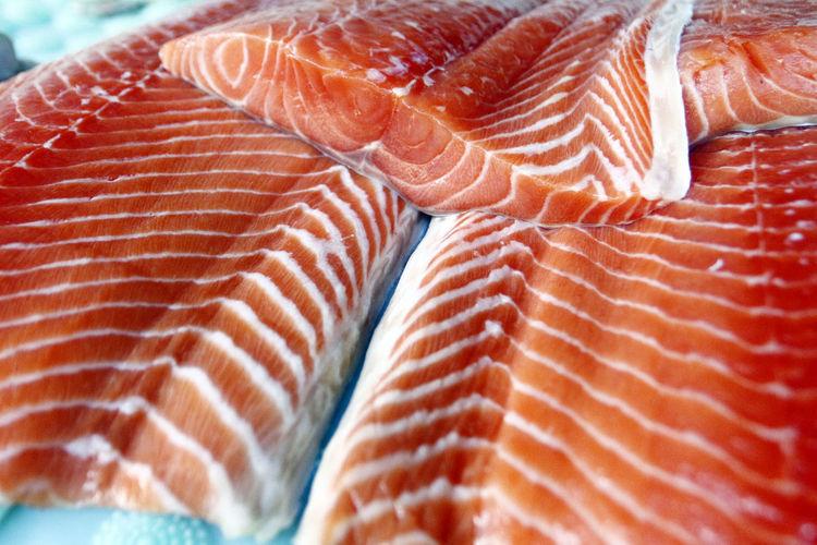 Close-up of meat at fish market