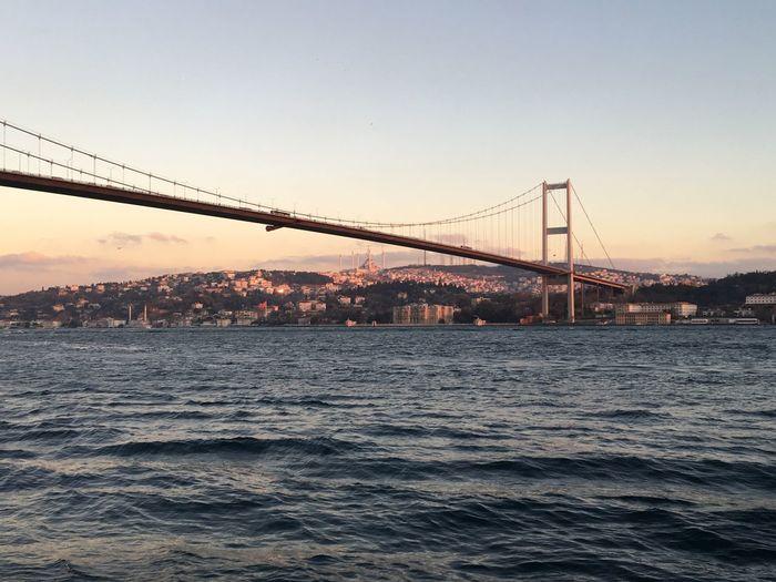Bosporus Bridge Bosporus Istanbul Bridge Sky Water Bridge - Man Made Structure Connection Built Structure Architecture Sunset Waterfront River Travel Destinations Tourism Outdoors Bay City The Architect - 2019 EyeEm Awards