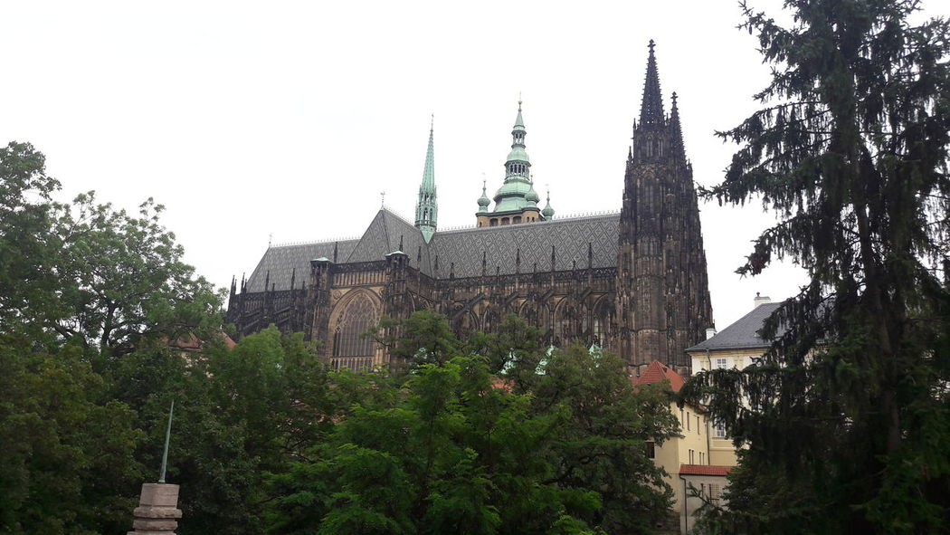 Prager Dom. Prague Architecture History Katholic Cathedral No People Outside Day