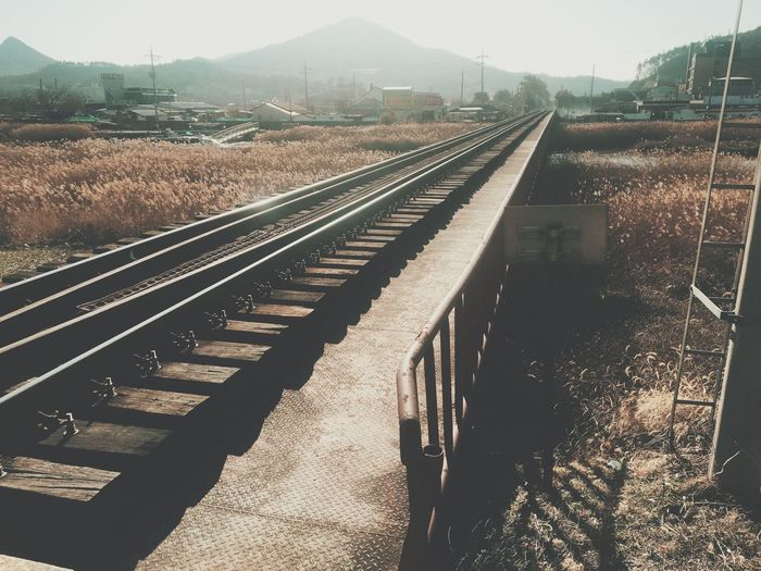 Today :) Daily Photooftheday Photo Photography Filtered Image Filter Railroad Track Transportation Rail Transportation Day High Angle View No People Outdoors