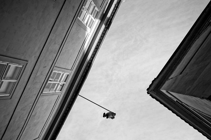 Hanging Freud in Prague Prague Architecture Building Exterior Built Structure Freud Hanging Freud Minimal Minimal Architecture No People Outdoors Sky Window