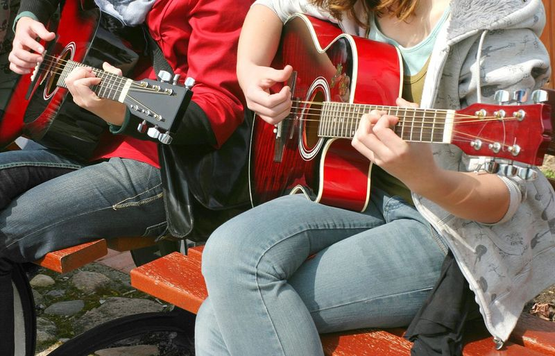 Guitar Guitarist Duet Music Musician Street Art Culture Youth Instrument Musical Instrument Accoustic Accoustic Guitar Performance Playing Guitar Playing Music Playing Up Close Street Photography Music Brings Us Together
