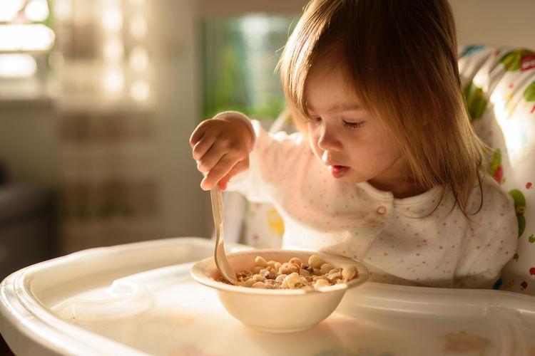 Cute girl eating food