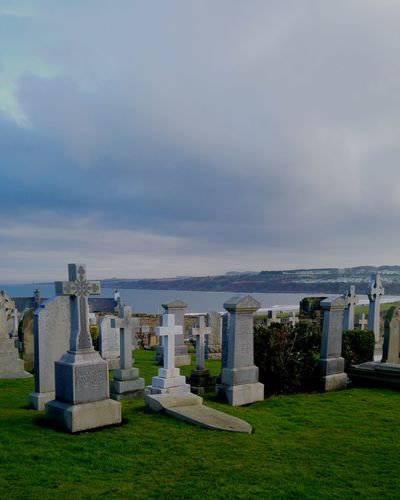 Memorial Cityscape Cultures History War Architecture Outdoors Grass Sky Day Cathedral Burial Ground Cemeteryscape Cemetery Graveyard Scotland St Andrews Eastern Cemetery Beach Seaside East Sands 3XSPUnity