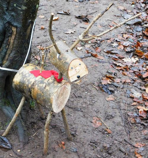 The magical world of wood sculpture found deep within Fullarton Woods, Troon, South Ayrshire, Scotland. Reindeer Scotland South Ayrshire WoodLand Carving In Wood Close-up Day Festive Fullarton Woods Leaf Nature No People Outdoors Tree Troon