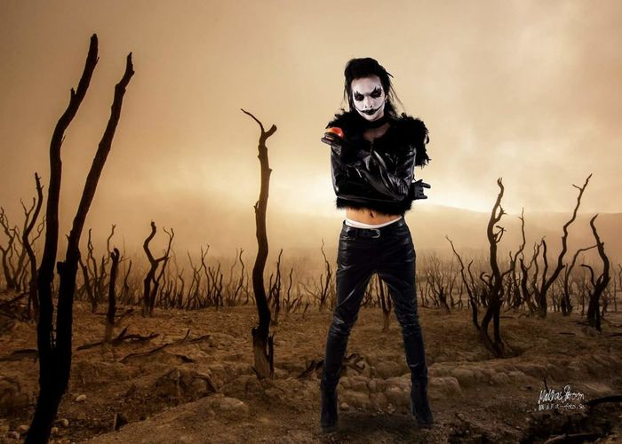 cosplayer Ryuk. Cosplay Ryuk Manga Anime Cosplayers Halloween Portrait Sunset Spooky Warrior - Person Looking At Camera Men Horror Sky Evil