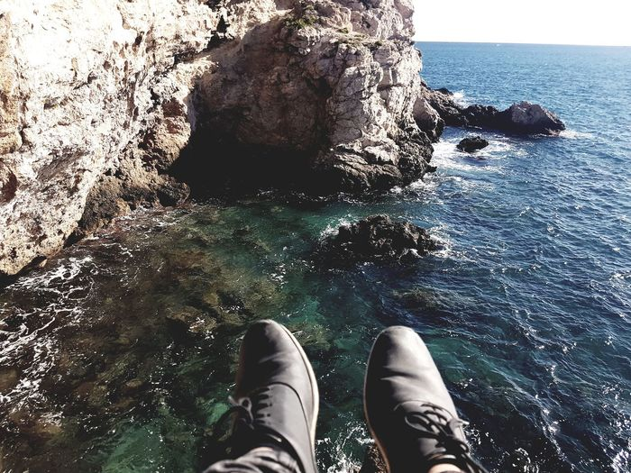 Pies Human Leg Personal Perspective Human Body Part One Person Lifestyles Shoe Close-up People Nature Horizon Over Water Low Section Beauty In Nature EyeEmNewHere