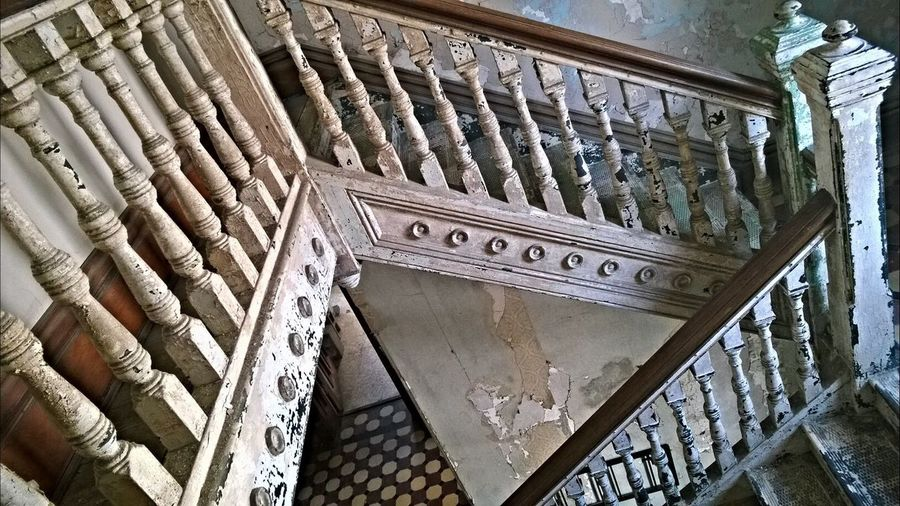 A Bird's Eye View Architecture Staircase Mansfield Reformatory Spooky Mansfield Prison Shawshankredemptionprison Shawshank Old Buildings Old But Awesome Building Built Structure