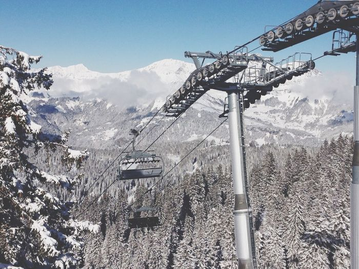 Les Saisies 2018 Sky Snow Nature No People Winter Tree Outdoors Cold Temperature Ski Lift First Eyeem Photo