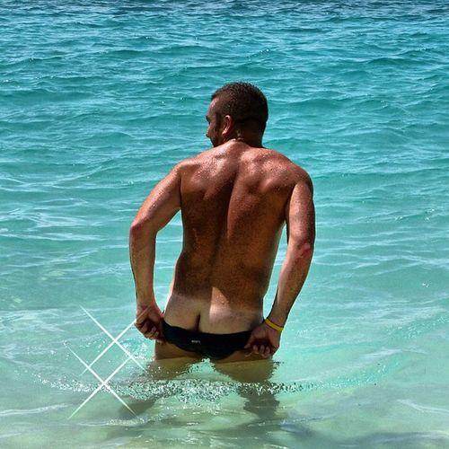 Oops how did that happen? Beach Man AussieBum LOL