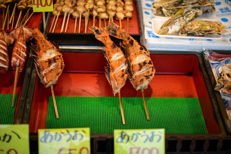 赤魚の串焼きなんて、見たことなかった。 Foodphotography Food Fish Skewer Market Food Food And Drink For Sale Retail  No People Seafood Freshness Market Stall Choice Healthy Eating