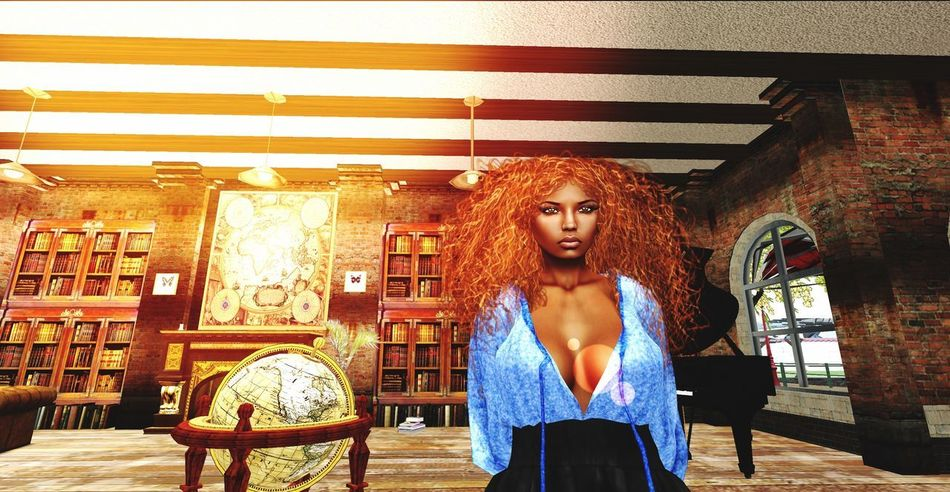 AMSTERDAM SIM Diamond's Pub and Nightclub of SLife Virtual World Traveler Virtual World Secondlife One Person Young Women Young Adult Front View Standing Women Leisure Activity