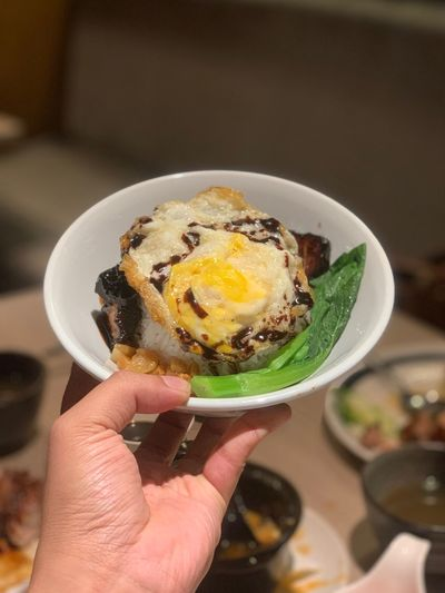 Human Hand Hand Food And Drink Holding Egg Human Body Part Food Bowl Meal Personal Perspective Egg Yolk Ready-to-eat Freshness