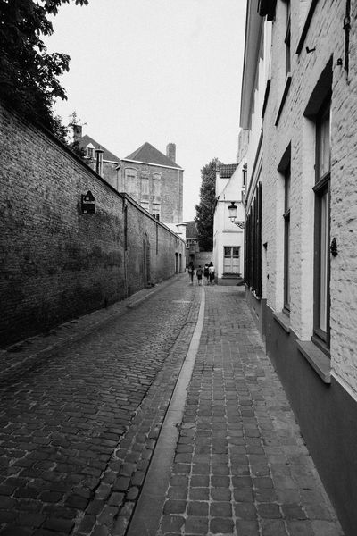 Cityscape of the medieval city of Bruges Architecture Belgium Blackandwhite Bruges Brugge Building Exterior Built Structure City City Life Day Landmark No People Outdoors Sky Street The Way Forward Tourism Tourist Attraction  Travel Travel Destinations UNESCO World Heritage Site Urban