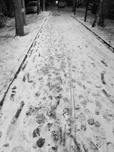 Eyeem Photography Outdoors Winternight Snow Cold Temperature Unknown Steps