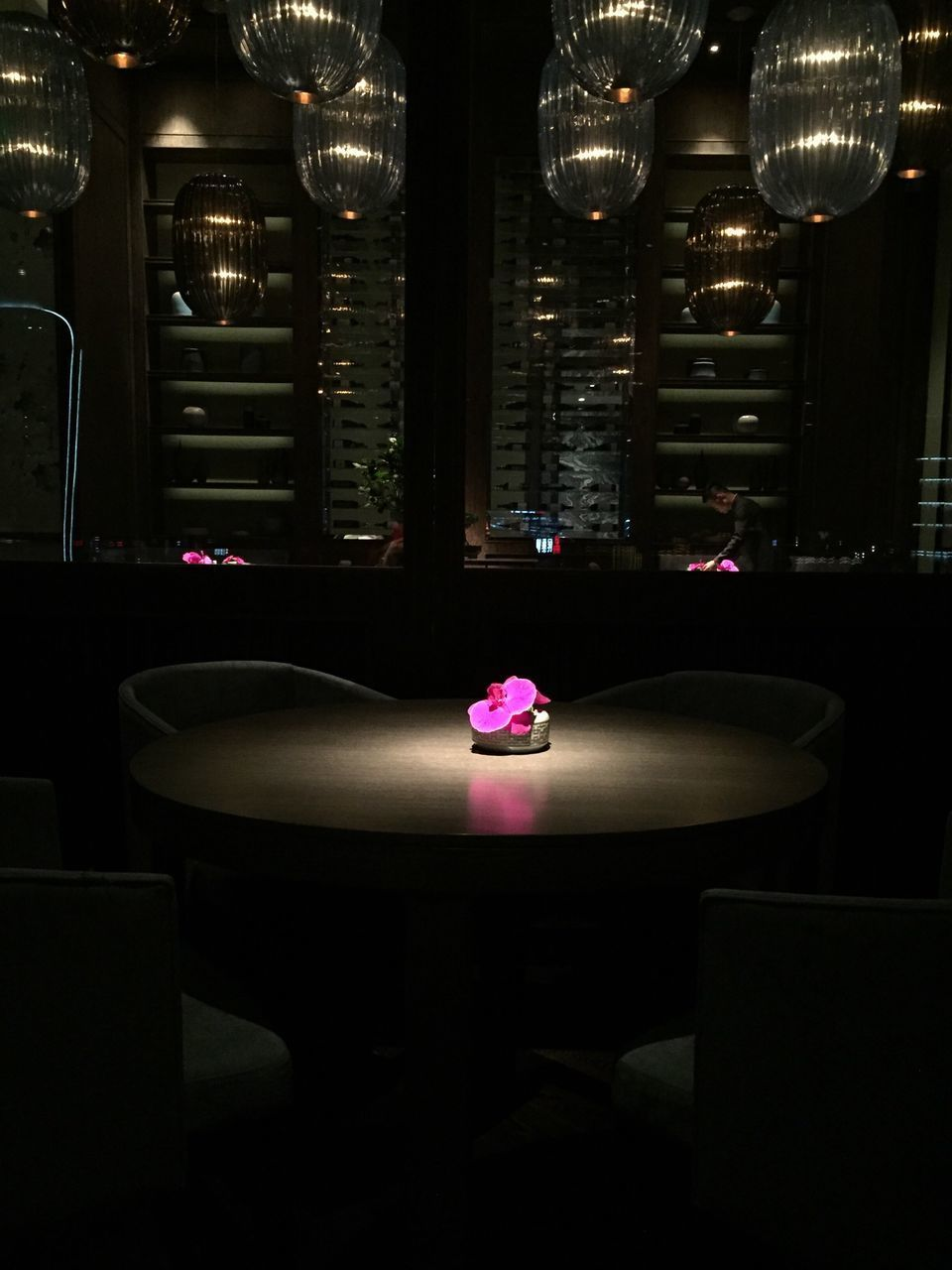 indoors, no people, illuminated, table, night, flower, close-up, freshness