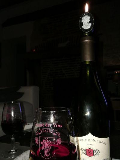 Wine Bottle Wine Bottle Drink Wineglass Red Wine Night