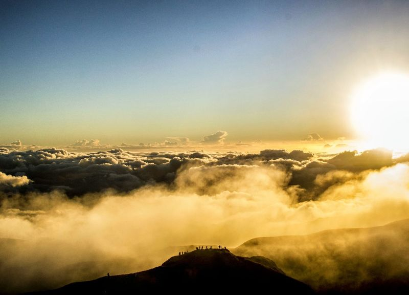 Mt. Pulag. Mountain Outdoors Nature Beauty In Nature Sky Sunlight Sunrise Mountain Range The Great Outdoors - 2017 EyeEm Awards EyeEmNewHere Eyeem Philippines EyeEm Nature Lover Nature Philippines Nikon D3100 Pinoy Mountaineer