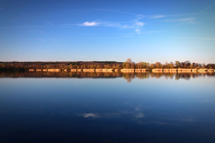 Reflection Water Nature Lake Blue Landscape Wetland Sky Grass Outdoors Beauty In Nature No People Space Day Canon EOS 70D Singliser See Nordhessen Beauty In Nature
