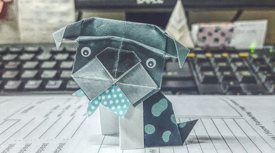 The year of Dog around the corner 🐶 No People Indoors  Origami Art Origami Origami Dog Year Of The Dog Personal Perspective Mobilephotography Showcase January Showcase January 2018 Check This Out My Point Of View EyeEm Of The Week Fresh On Eyeem  Art And Craft Dogs Of EyeEm Dog Creative Space