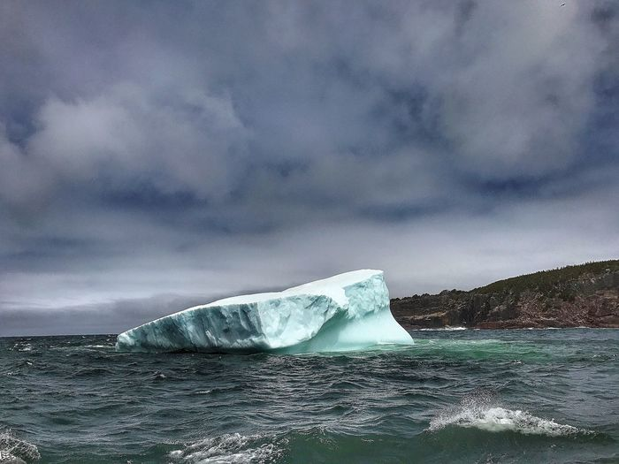 Iceberg - Newfoundland Canada - iPhone 7 Plus Beauty In Nature Sea Nature Cloud - Sky Glacier Cold Temperature Sky Ice Scenics Water Iceberg - Ice Formation No People Outdoors Frozen Iceberg Winter Day Storm Cloud Horizon Over Water The Great Outdoors - 2017 EyeEm Awards IPhoneography Canada Lost In The Landscape The Great Outdoors - 2018 EyeEm Awards