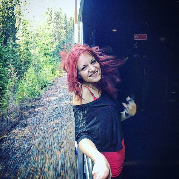 Takethetrain Rockymountaineer Canadianrockymountains Kamloops Vancouver Banff  Smile Train Trainride Readhead Taramae