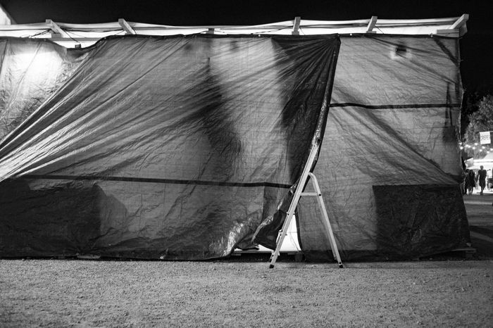 Tollwood Festival Lowlight Nightphotography Ladder