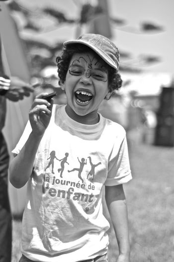 Blackandwhite Child Happiness Joy Kid Laughing Portrait Toothy Smile
