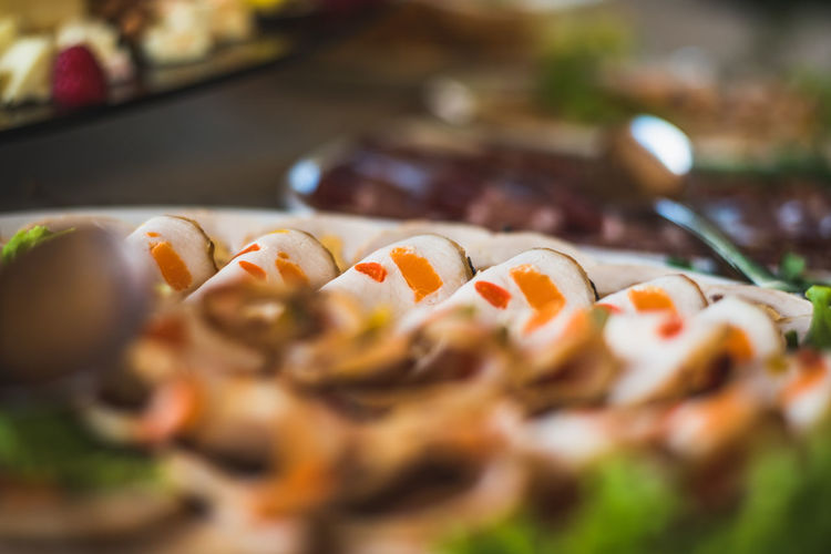 Cold cut catering for a special event like wedding. Dish Mushrooms Nuts Plum Blossom Roll Salad Service Animals Skewer Catering Cheese Cold Cuts Colorful Grape Grapefruit Jubilee Lime Luxury Mix Yourself A Good Time Nozzle Prosciutto Sauces Skewered Food Strawberry Tomato Wedding Food