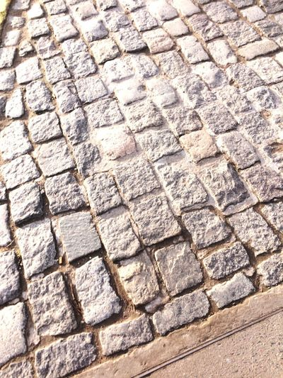 Empedrado. Full Frame Pattern Backgrounds High Angle View Day Textured  No People Footpath Street Stone Outdoors Paving Stone Stone Material Solid