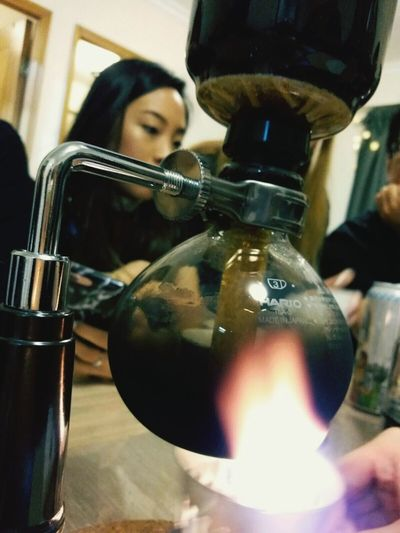 Coffee Syphon Syphoncoffee Relax Timehonered Classic Fresh Coffeebean Fire Chat Taking Photos EnjoyTheMoment