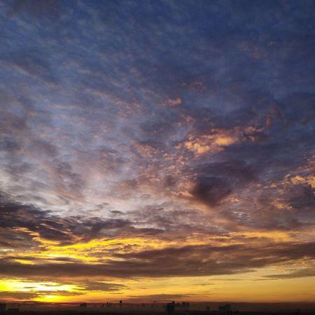 morning sky Sunset Astronomy Backgrounds Blue Space Beauty Horizon Dramatic Sky Yellow Sky