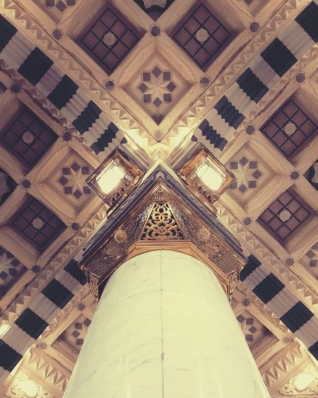 Pattern No People Indoors  Architecture Place Of Worship Mosque KSA Madinah PBUH ProphetMuhammad