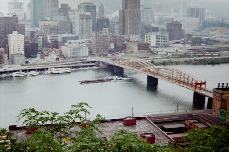1968 America Architecture Building Built Structure City City City Life Cityscapes Elevated View Film Film Photography No People Office Building Outdoors Pennsylvania Pittsburgh River Thomas E. McCutcheon Vintage Vintage Photo Water