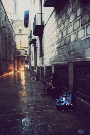 The Street Photographer - 2016 EyeEm Awards Street Busking Barcelona, Spain Busker Concert In Rain