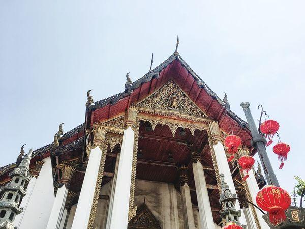 Beautiful architecture church Wat Suthat Architecture Built Structure Religion No People Temple Architecture Statue Thailand Architecture Temple Wat Suthat Tourism