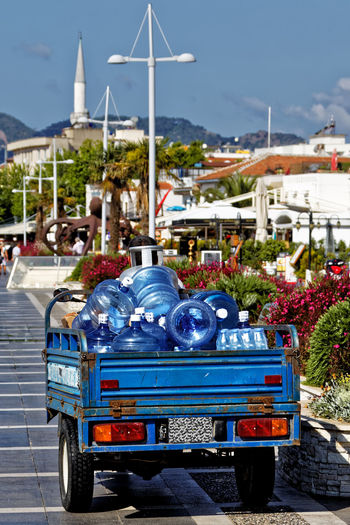 Drinking Water Marmaris, Turkey Turkey Turkish Riviera Architecture Blue Building Building Exterior Built Structure Car City Day Food And Drink Fuel And Power Generation Land Vehicle Marmaris Mode Of Transportation Motor Vehicle Nature Outdoors Plant Sky Street Sunlight Transportation Water Dispenser