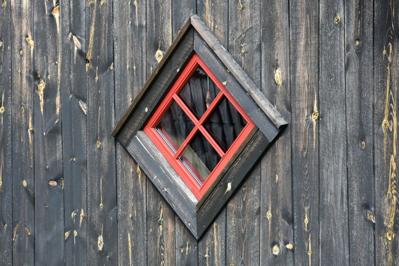 Norway Close-up Day Door Flåm No People Outdoors Protection Red Wood - Material