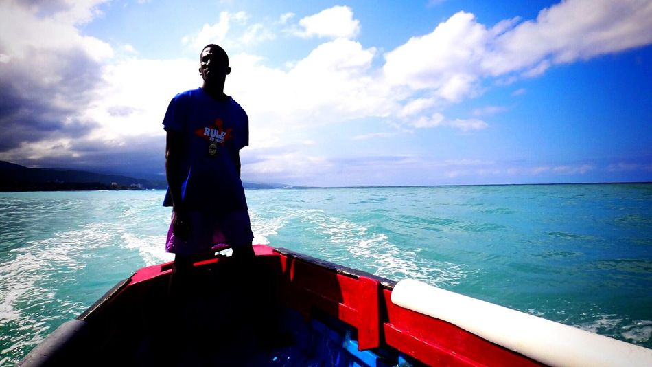 Ocho Rios Jamaica Boat Ride Ocean On The Ocean Blue Sky