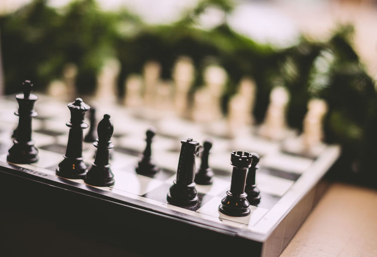Close-Up Of Chess On Table