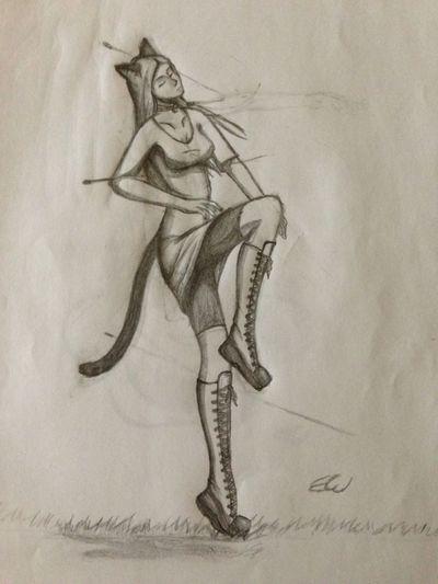 Drawing Roselin Neko One Piece OC