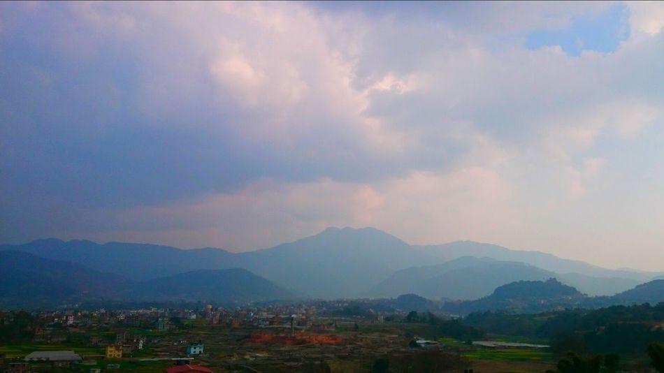 Mountain Range Sky Mountain Cloud - Sky Kathmandu Nepal Real No People