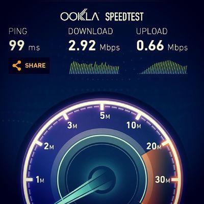 Reliance madness in Bbay. 3g Internet Ookla Speedtest htcone htc reliance