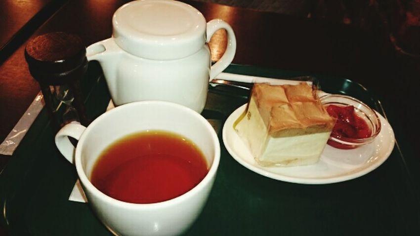 Cafeteria Cake Tea Tea Time