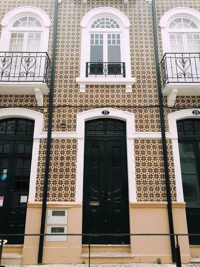 Architecture Entrance Door Built Structure Window Building Exterior Façade No People Day HuaweiP9 Portugal Caldas Da Rainha Tile Tiled Wall Portuguese Tiles