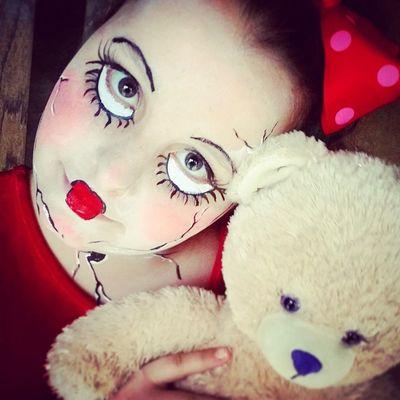 My cracked porcelain doll Halloween2014 Dollcostume Creepy