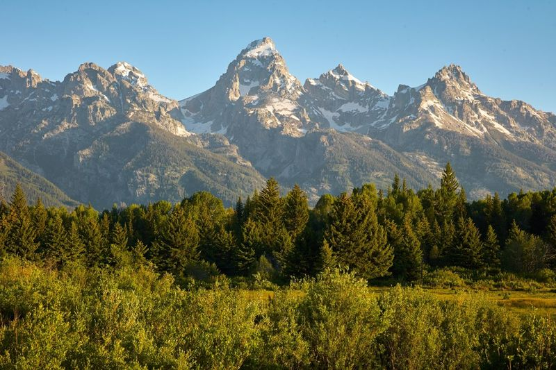 Scenic View Of Mountains At Grand Teton National Park