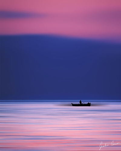 Sea Night Sunset Outdoors Water Scenics Blue No People Nature Sky Landscape Clouds Silhouette Man Colorful Sunrise Purple Sicily Photography Beauty In Nature Horizon Dream Nature Light Minimal